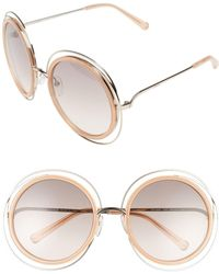 Chloé - 'carlina' 58mm Round Sunglasses - Lyst