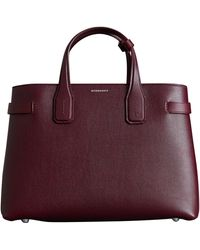 Burberry - Medium Banner Leather Tote - - Lyst 8e122f7a5930b