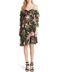 Alice + Olivia - Florentina Off The Shoulder Dress - Lyst