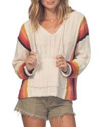 Rip Curl - Dreamscape Poncho Sweater - Lyst