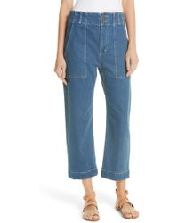 Apiece Apart - Liv Crop Straight Leg Jeans - Lyst