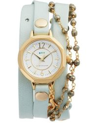La Mer Collections | Perth Wrap Leather Strap Watch | Lyst
