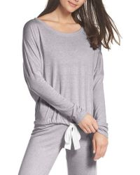 Eberjey - Heather Knit Slouchy Tee - Lyst