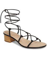 Pour La Victoire | Jules Ankle Tie Sandal | Lyst