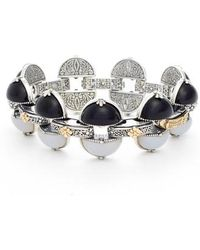 Konstantino - Etched Silver & Agate Bracelet - Lyst