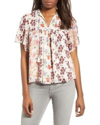 Lucky Brand - Floral Top - Lyst