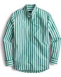 cdd6aa485c J.Crew Petite Tunic In Bold Stripe Cotton Poplin in Blue - Lyst