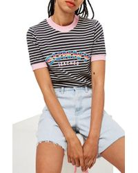 TOPSHOP - Sunny Beaches Stripe Tee - Lyst