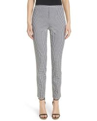 Michael Kors | Gingham Stretch Cotton Trousers | Lyst