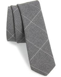 Eleventy - Windowpane Wool Skinny Tie - Lyst