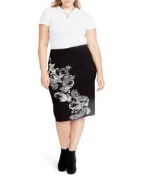 RACHEL Rachel Roy - Paisley Knit Pencil Skirt - Lyst