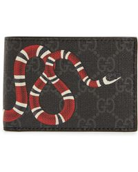 bb1c1a0cb9f5cf Gucci King Snake Bifold Wallet, Red, One Size in Red for Men - Lyst