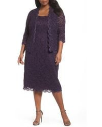Alex Evenings - Lace Dress & Jacket - Lyst