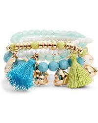 Lilly Pulitzer - Lilly Pulitzer Surf Seafari 5-piece Stretch Bracelet Set - Lyst
