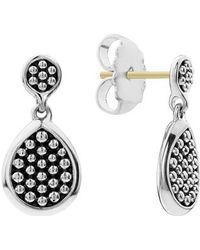 Lagos - Signature Caviar Flat Drop Earrings - Lyst