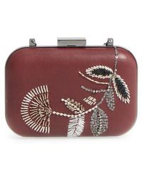 Vince Camuto - Almus Leather Minaudiere - Burgundy - Lyst