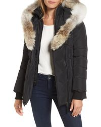 Mackage - Hooded Down Parka With Inset Bib & Genuine Fox Fur Trim - Lyst