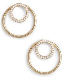 Nadri - Pave Double Circle Earrings - Lyst