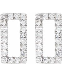 CARRIERE JEWELRY - Carriere Diamond Open Rectangle Stud Earrings (nordstrom Exclusive) - Lyst
