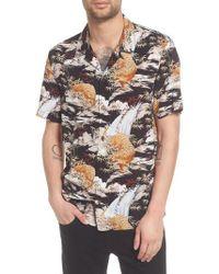 AllSaints - Sumatra Regular Fit Short Sleeve Sport Shirt - Lyst