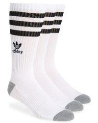 Adidas Originals | 3-pack Original Roller Crew Socks, White | Lyst