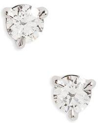Kwiat - 0.33ct Tw Diamond & Platinum Stud Earrings - Lyst