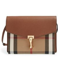 a773906d2f61 Lyst - Burberry  small Macken  Check Crossbody Bag in Natural