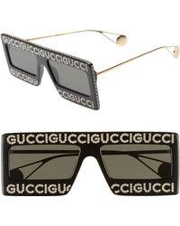 e16ed061baa Lyst - Gucci Acetate Mask Lens Sunglasses in Black