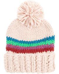 BP. - Stripe Chunky Knit Beanie - - Lyst