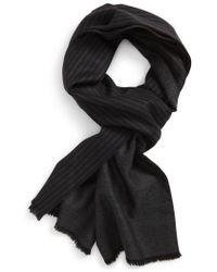 Hickey Freeman - Stripe Wool Scarf - Lyst