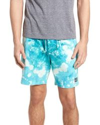 Obey - Paloma Bleach Dyed Shorts - Lyst
