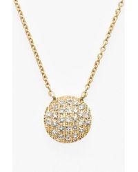 Dana Rebecca - 'lauren Joy' Diamond Disc Pendant Necklace - Lyst