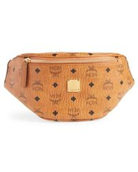 MCM - Small Stark Coated Canvas Belt Bag - Lyst
