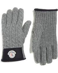 Moncler - Cable Knit Wool & Cashmere Gloves - Lyst