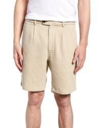 Nifty Genius - Thomas Regular Fit Pleated Shorts - Lyst