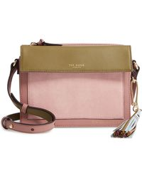 2e666e5b70baf0 Ted Baker - Colour By Numbers Glacial Leather Crossbody Bag - Lyst