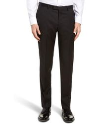 BOSS - Lenon Cyl Flat Front Solid Wool Trousers - Lyst