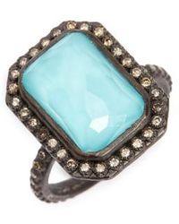 Armenta | Old World Midnight Turquoise & Diamond Ring | Lyst
