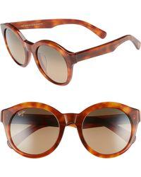 Maui Jim - Jasmine 51mm Polarizedplus2 Round Sunglasses - Koa Tortoise/ Bronze - Lyst