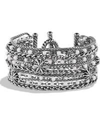 David Yurman - 'starburst' Chain Bracelet With Pearls - Lyst
