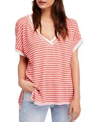 c27a9121b3 Lyst - Wildfox Take Me To Versailles Oversized Tee in Purple