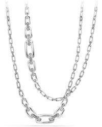 David Yurman - Wellesley Link Necklace With Diamonds - Lyst