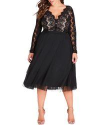 City Chic - Rare Beauty Dress - Lyst