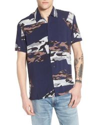 ELEVEN PARIS - Spatial Print Woven Shirt - Lyst