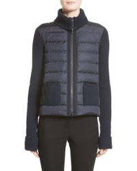 Moncler - Ciclista Quilted Down Front Sweater Jacket - Lyst