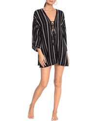 Robin Piccone - Claire Lace-up Cover-up Tunic - Lyst