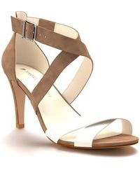 Shoes Of Prey - Crisscross Strappy Sandal - Lyst