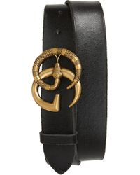 4b597d71584 Lyst - Gucci Gg Marmont Reversible Leather Belt for Men