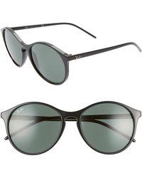 88e0a396b8 Lyst - Ray-Ban Highstreet Round Sunglasses - Havana Dark brown Dark ...