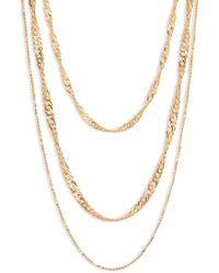 Five And Two - Trinity Layered Necklace - Lyst